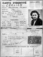 Nancy Wake's French Identity Card.