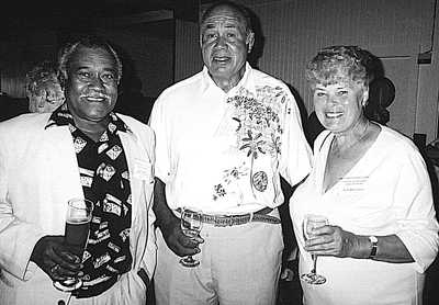 Joe Andrews, John DaSilva and his wife Wilhelmina