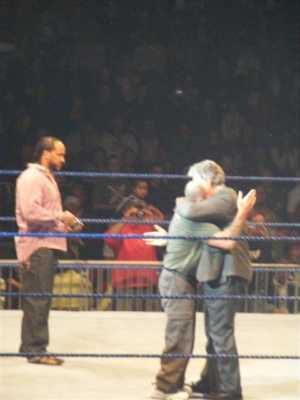 MVP At Left And Butch Hugs His Old Friend And Former WWF Star From New Zealand Tony Garea