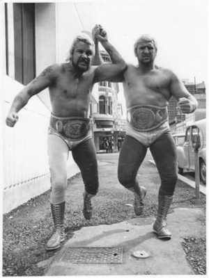 This Was Luke And Butch Before They Became The Bushwhackers -They Were The Crazy Kiwi's In This Early Pic