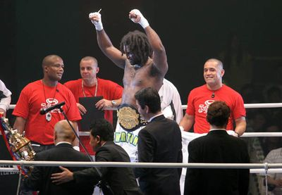 Ewerton Teixeira (Brazil), the new K-1 WGP Japan Champion 2008  Fukuoka Japan.
