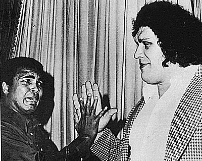 Andre the Giant with Muhammad Ali