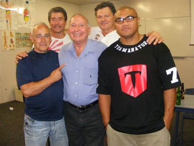 Roger Bloodworth - Dave Cameron - David Tua - Rear right Lance Revill