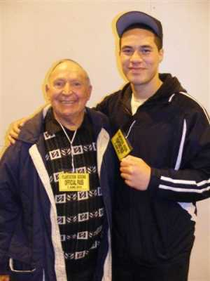 Dave Cameron with Joseph Parker