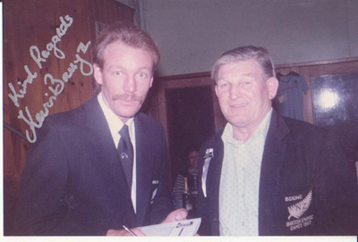 Kevin Barry with Frank Creagh