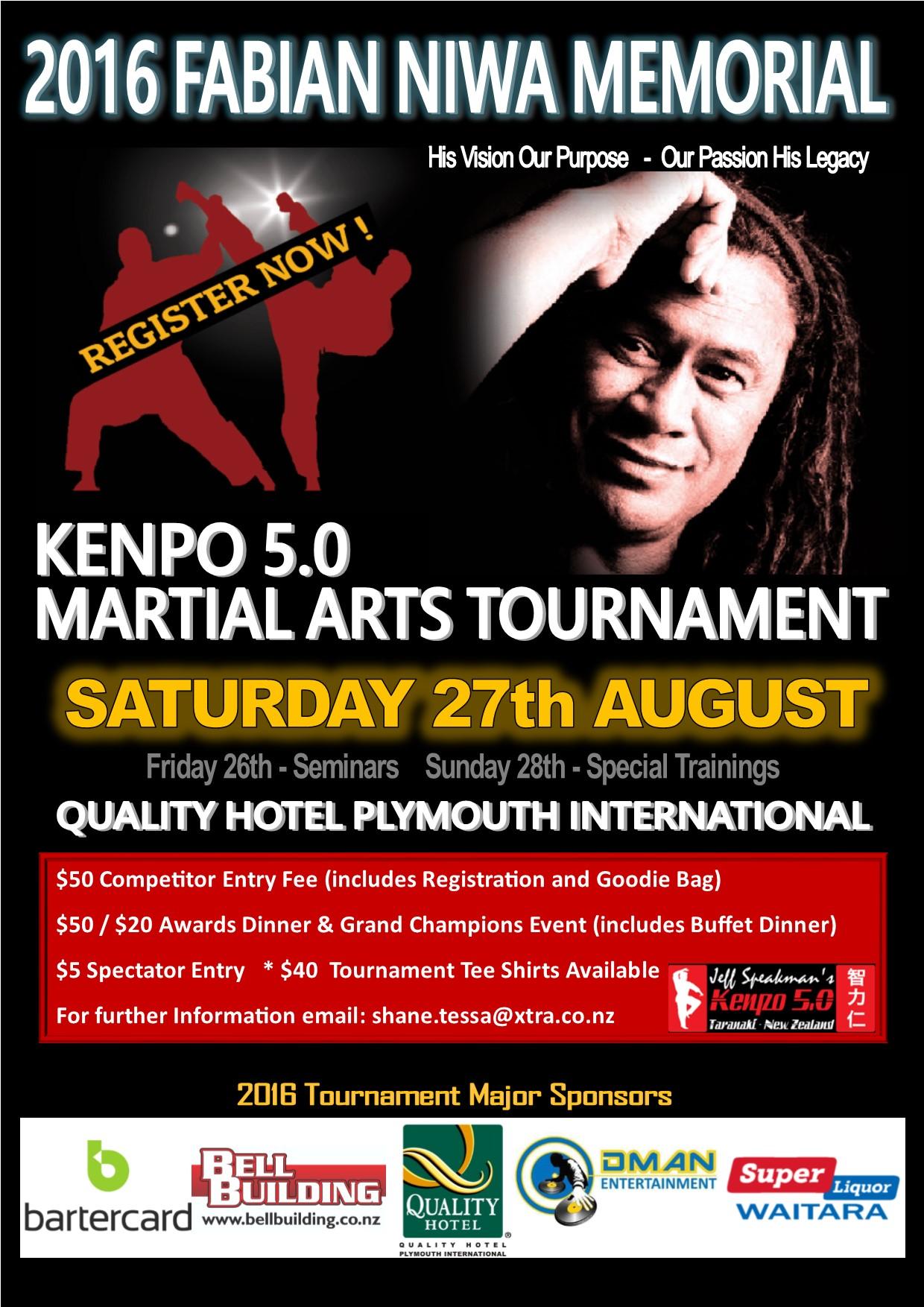 2016 Fabian Niwa Memorial Kenpo International Martial Arts Tournament